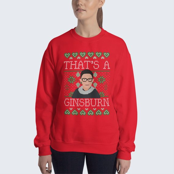 ruth bader ginsburg christmas sweater