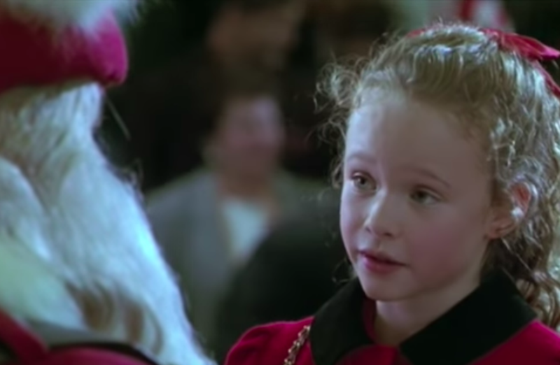 "Thora Birch in 1991's ""All I Want For Christmas"""