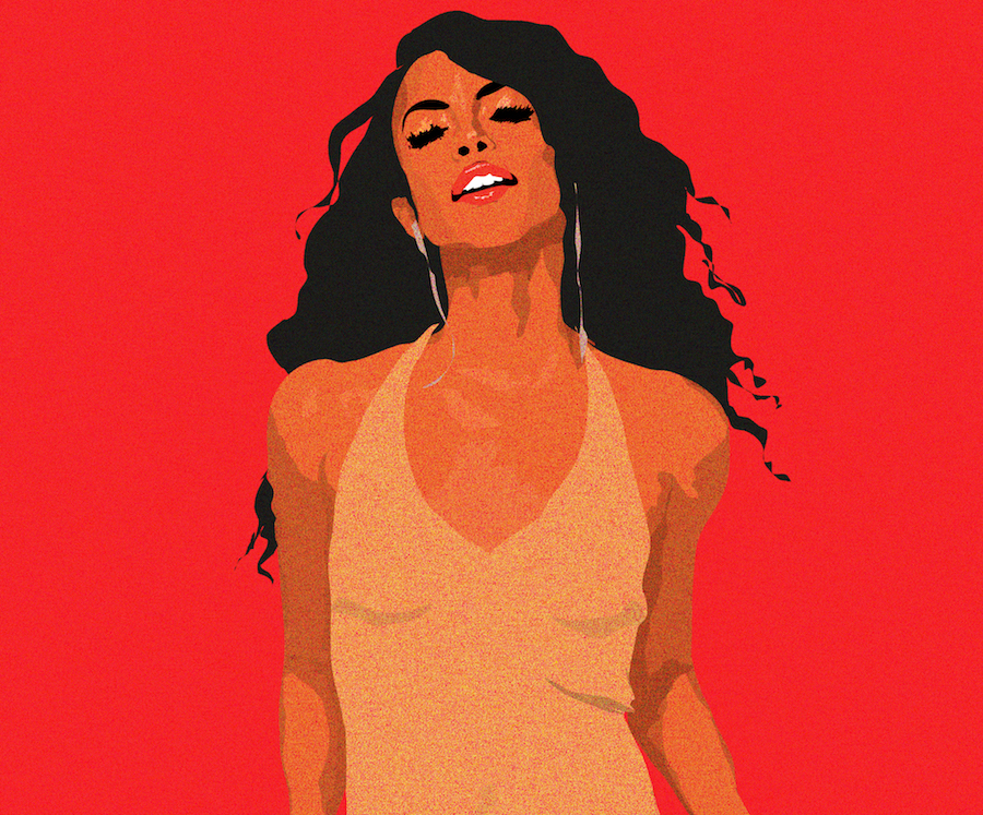 Illustration of Aaliyah's final album cover