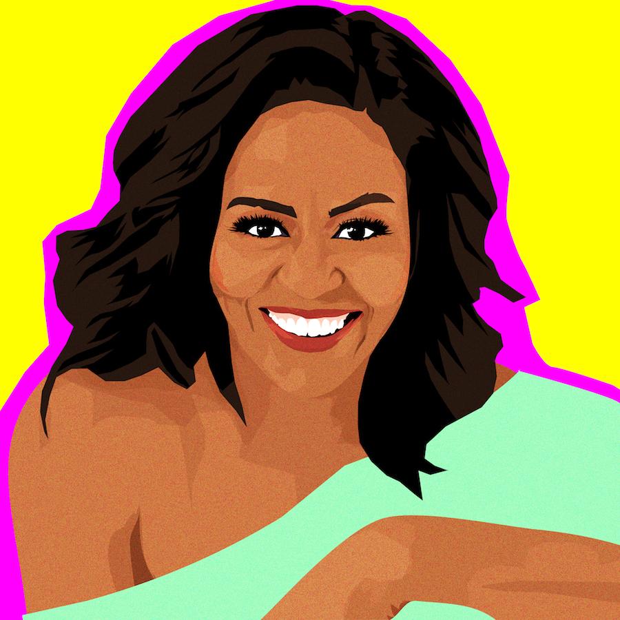 Michelle Obama illustration