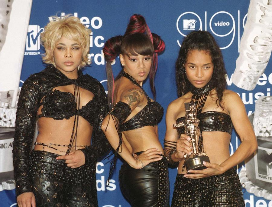 "TLC at MTV Vmas in September 1999 after winning for ""No Scrubs"""