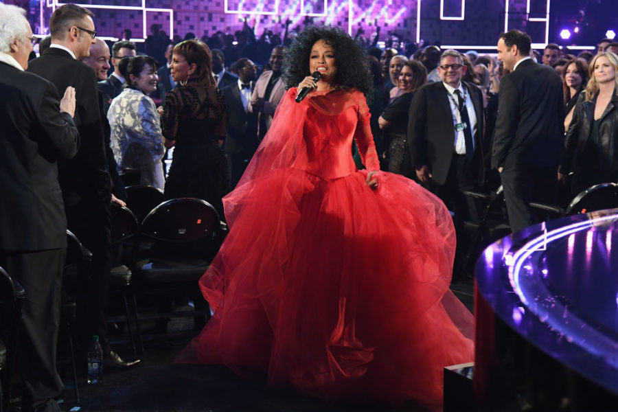 Diana Ross performing at 61st Grammys