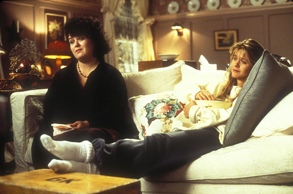 Rosie O'Donnell and Meg Ryan in Sleepless in Seattle (image via Sony/TriStar)
