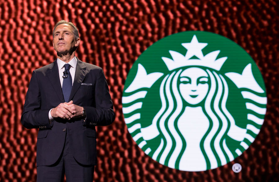 Former Starbucks CEO Howard Schultz in March 2017