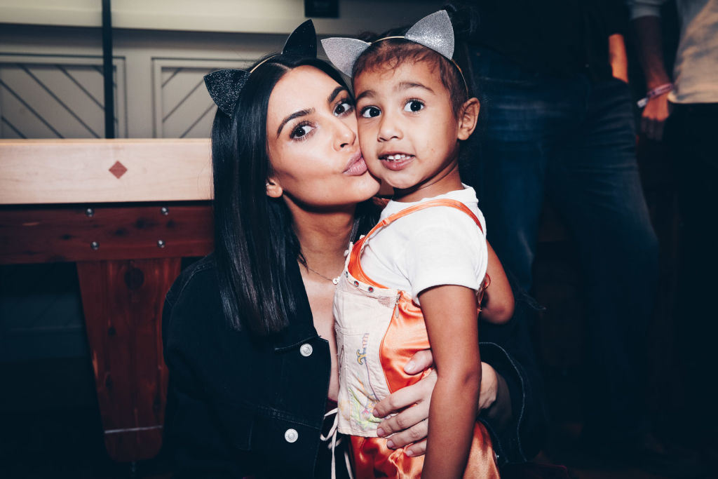 Picture of Kim Kardashian North West Twins