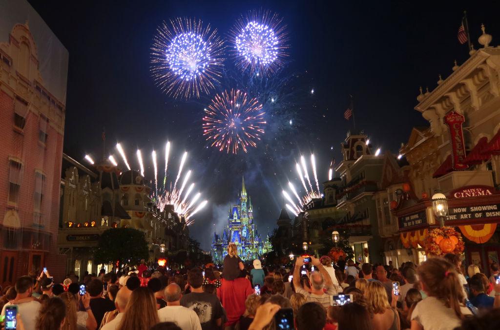 LAKE BUENA VISTA, FL - OCTOBER 10: Fireworks explode over Cinderella Castle during the Happily Ever After fireworks show at the Walt Disney World, Magic Kingdom entertainment park on October 10, 2018 in Lake Buena Vista, Florida.