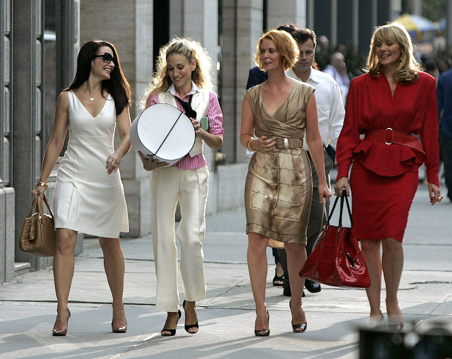Carrie, Charlotte, Miranda, and Samantha in Sex and the City