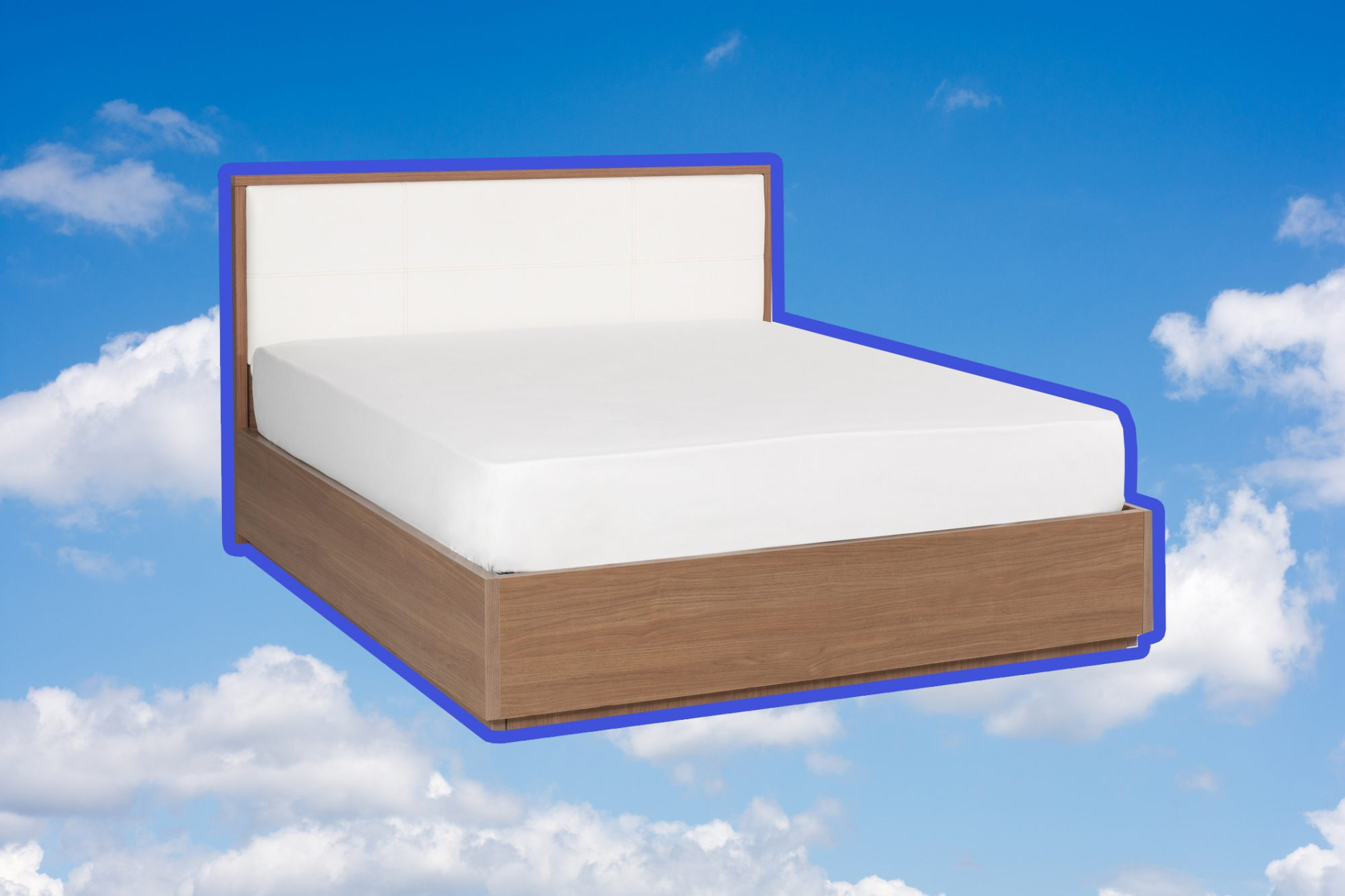 mattress in blue sky