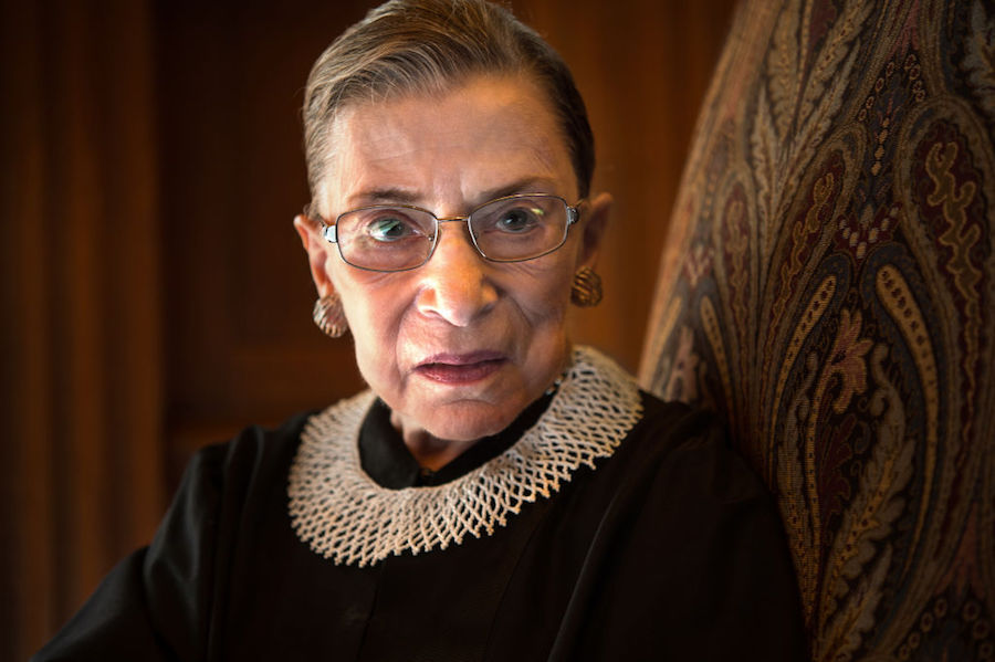 Ruth Bader Ginsburg in Supreme Court conference room