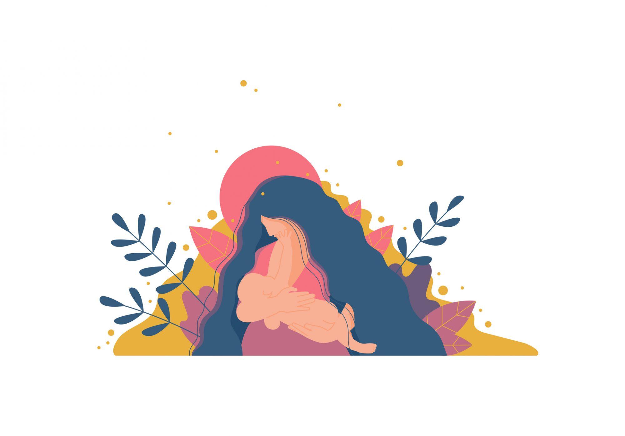 new mom illustration