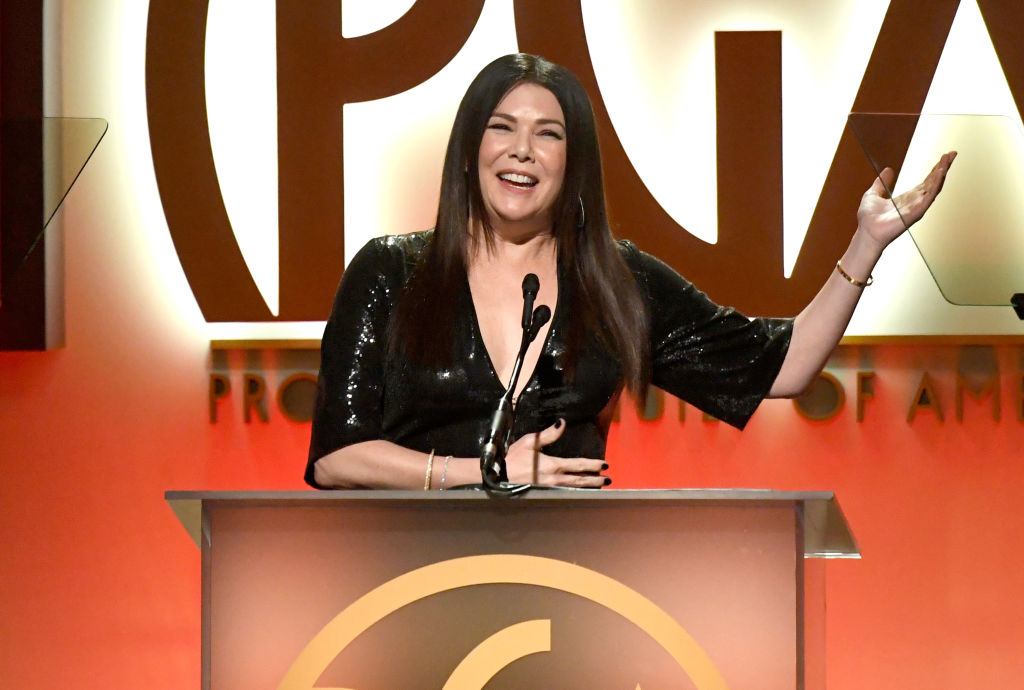 BEVERLY HILLS, CA - JANUARY 19: Lauren Graham speaks onstage during the 30th annual Producers Guild Awards at The Beverly Hilton Hotel on January 19, 2019 in Beverly Hills, California.