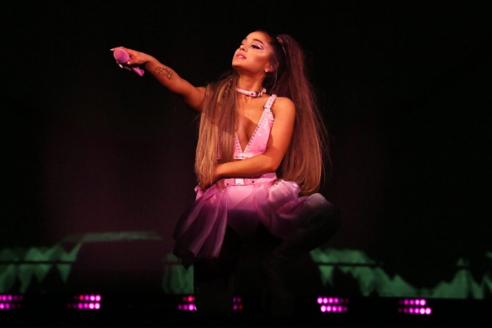 ALBANY, NEW YORK - MARCH 18: Ariana Grande performs onstage during the Sweetener World Tour - Opening Night at Times Union Center on March 18, 2019 in Albany, N