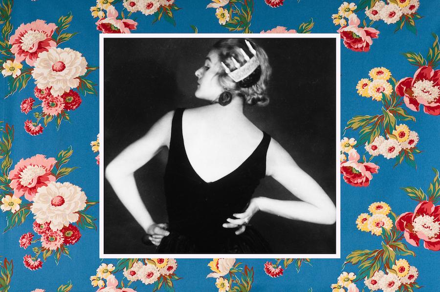 Anita Berber on floral background