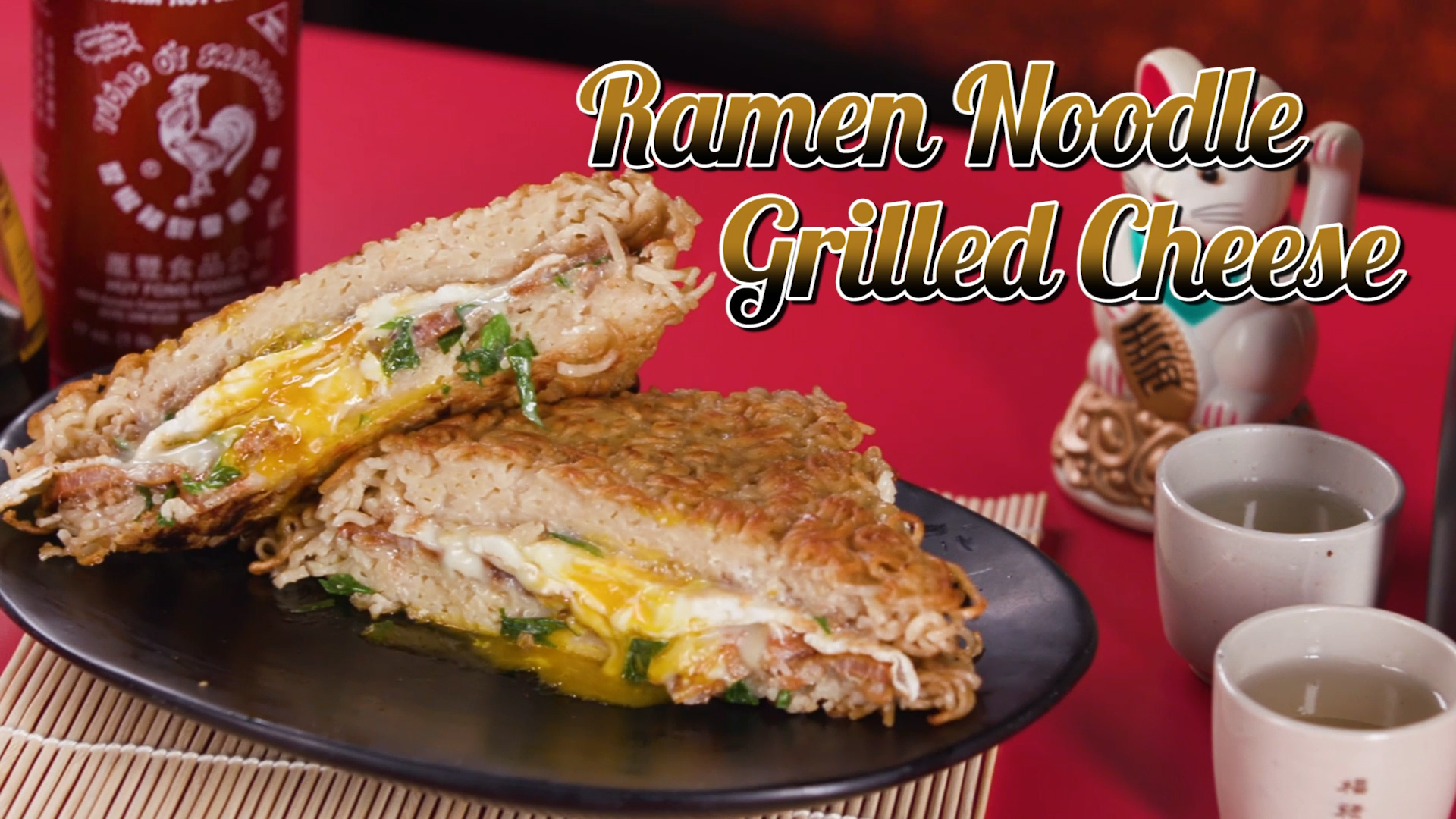 Ramen Noodles Grilled Cheese