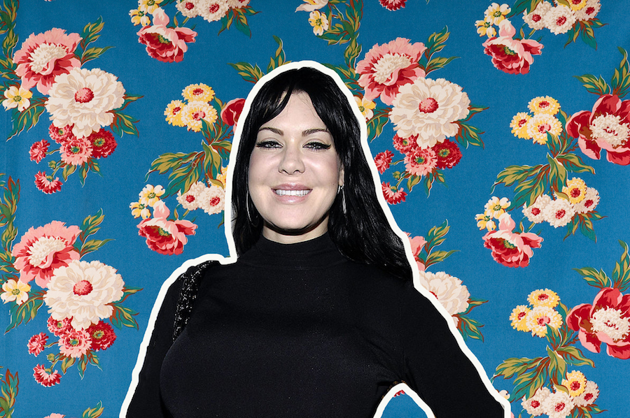 Chyna on floral background