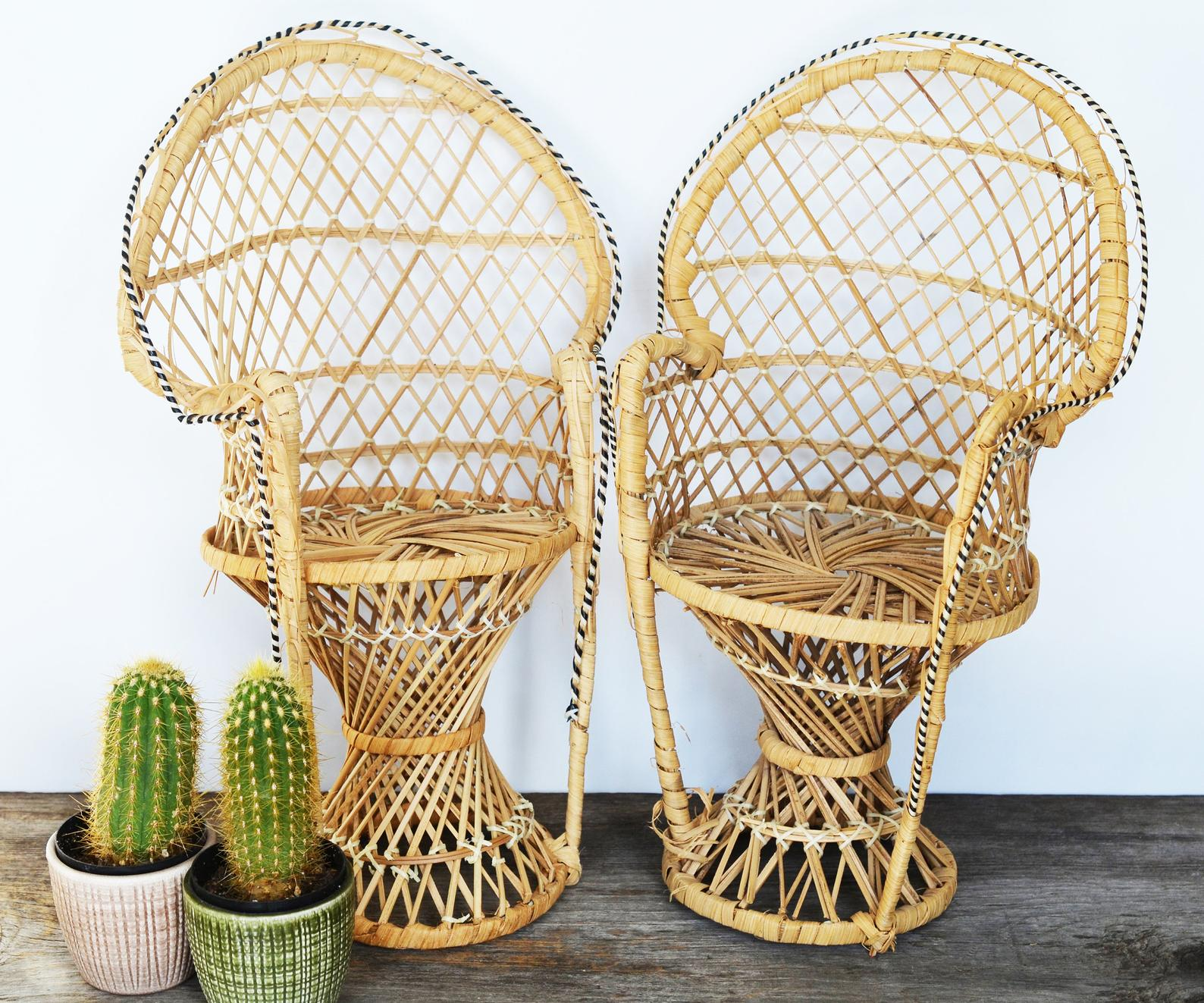 rattan chairs from etsy