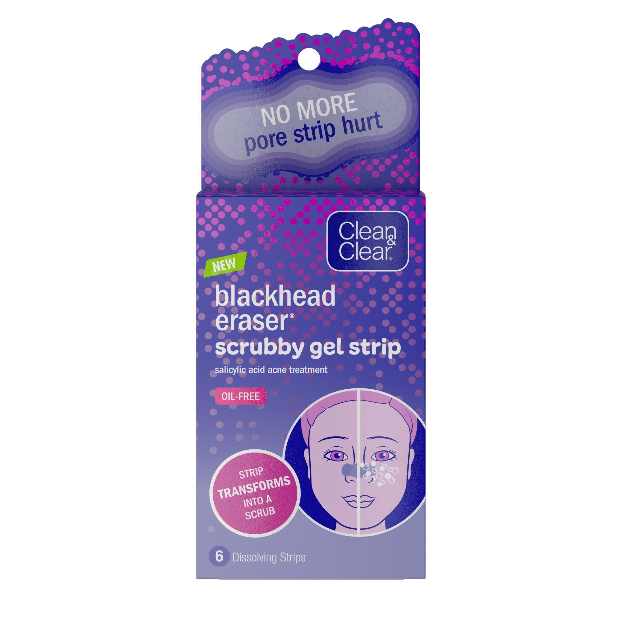 Clean and Clear Blackhead Eraser Scrubby Gel Strip