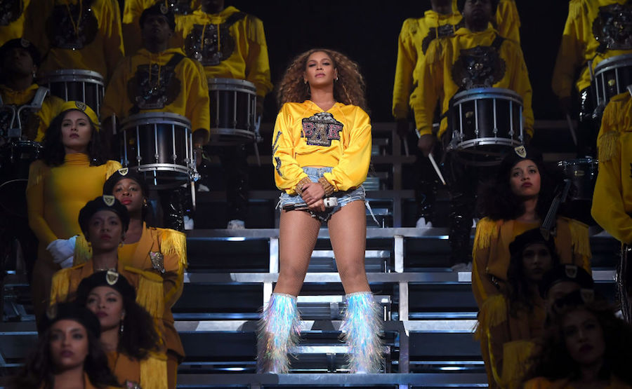 Beyoncé performing at Coachella 2018
