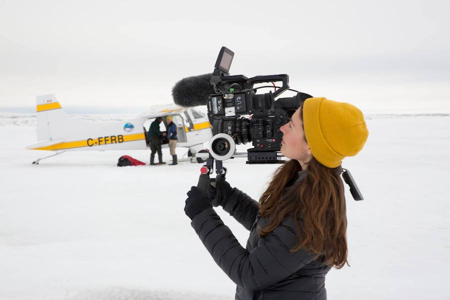 tasha Van Zandt filming in the Antarctic