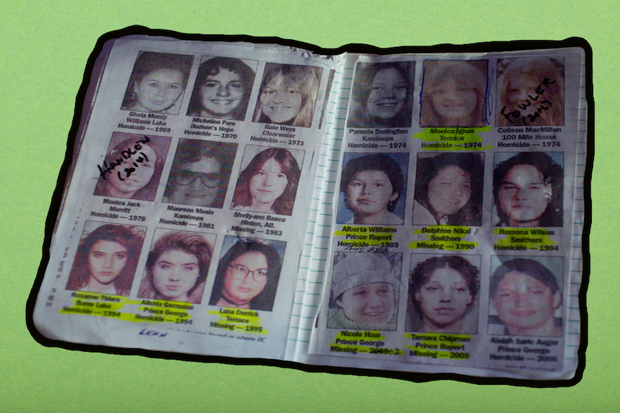 A private detective's notebook on women who have gone missing along Canada's Route 16 shows some of the murder investiagtions of indegenous women