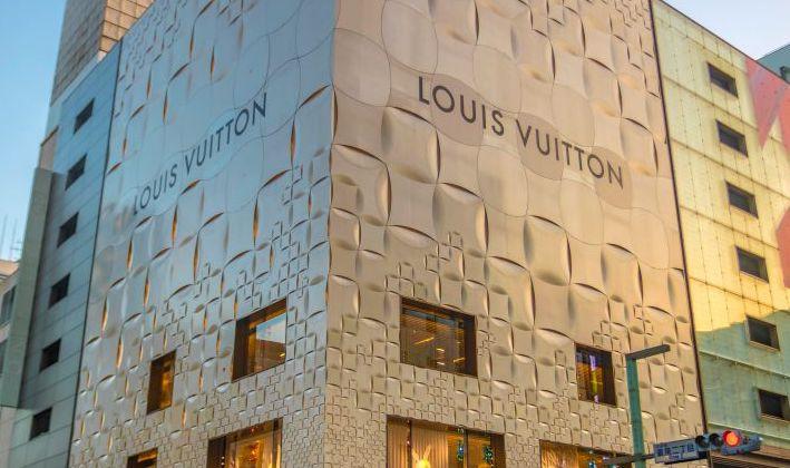 Gold Louis Vuitton Building