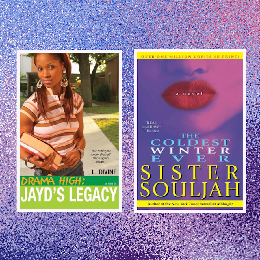 Covers of Jayd's Legacy and The Coldest Winter Ever on purple background