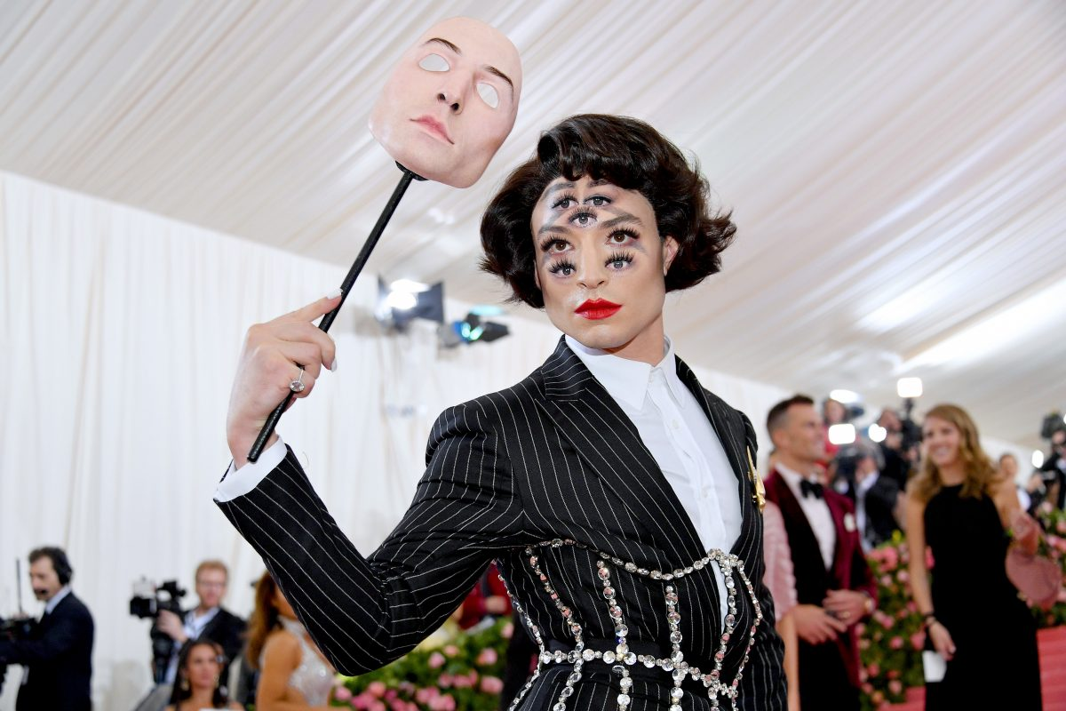 Ezra Miller at the 2019 Met Gala.