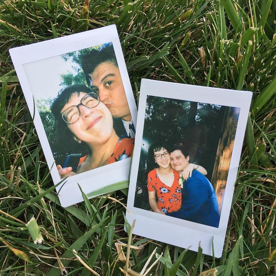 Polaroids of author and her boyfriend