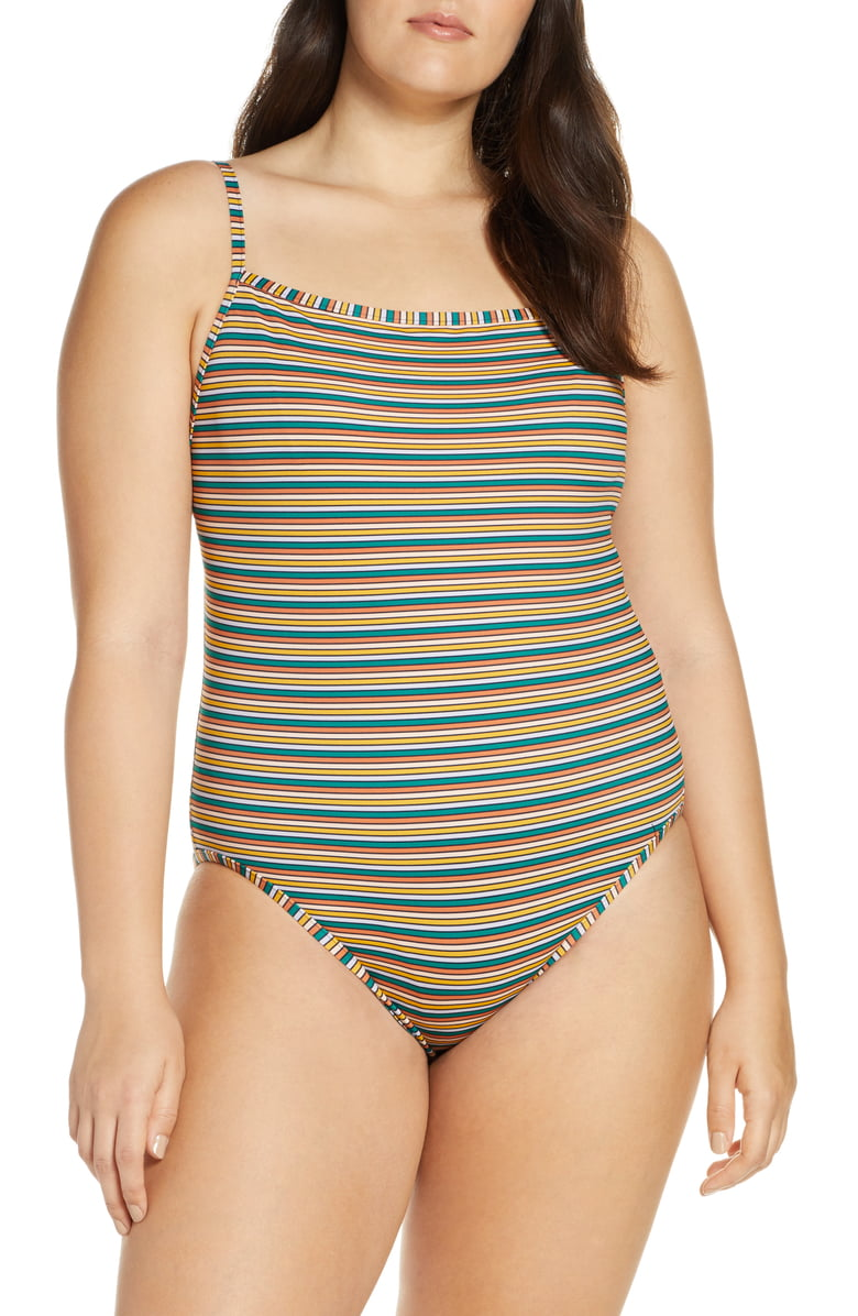 Madewell striped one-piece swimsuit
