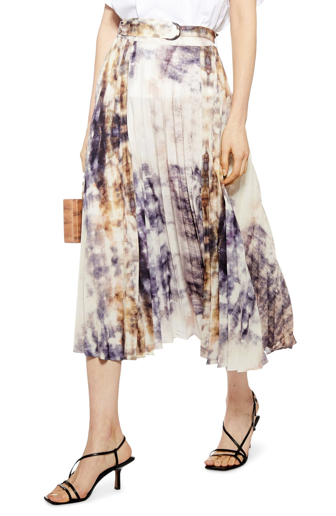 Topshop tie-dye midi skirt