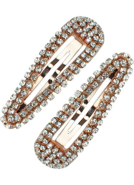Rhinestone Snap Clips 2pc