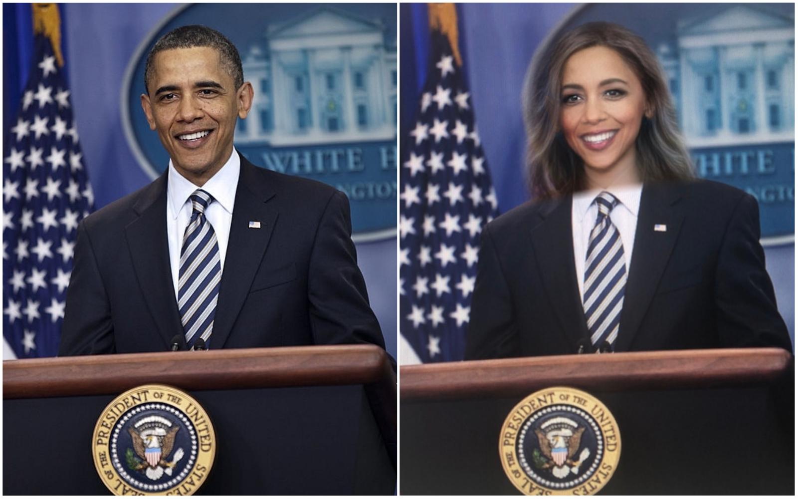 Snapchat filter on presidents