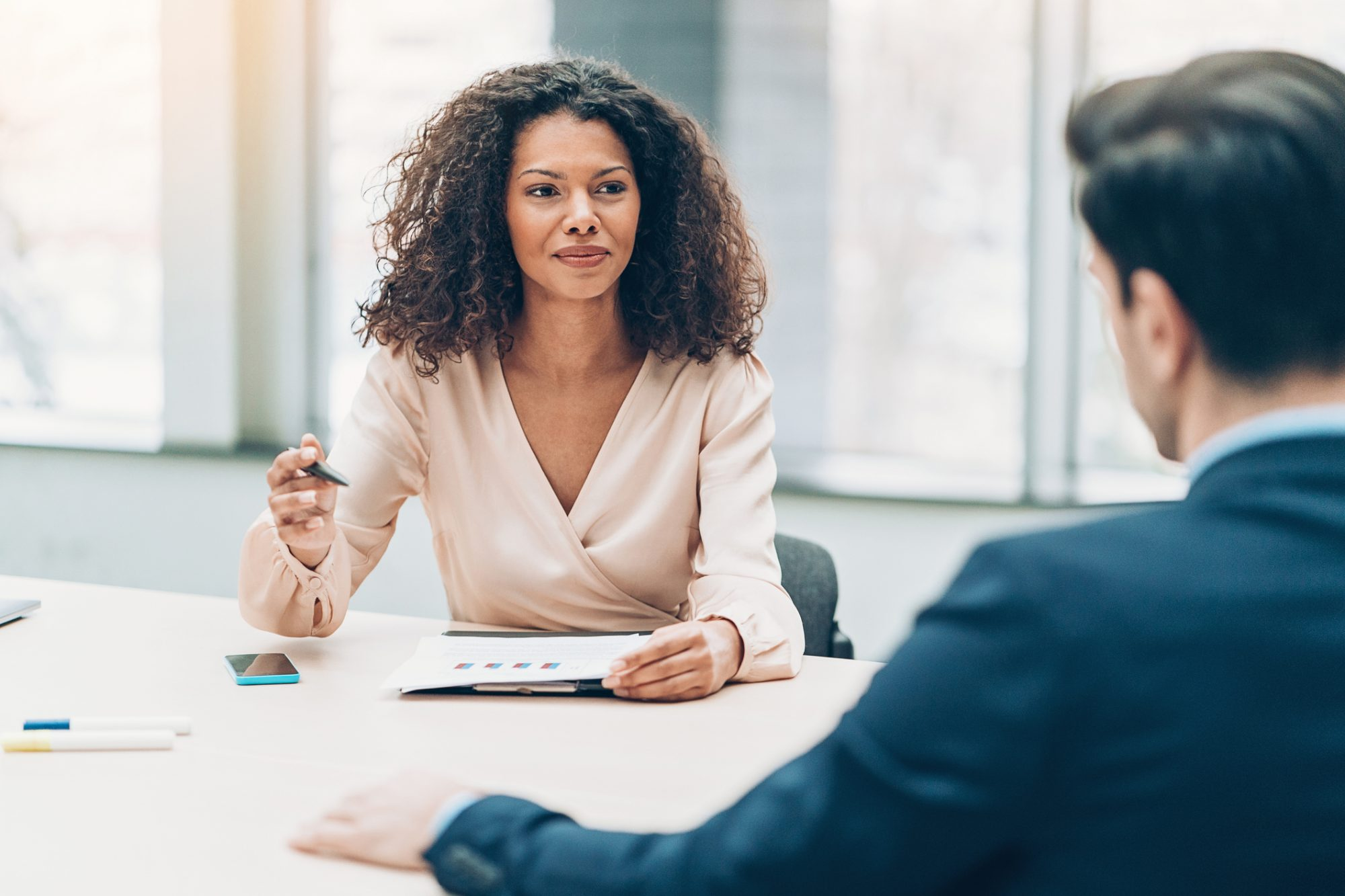 Woman in a business meeting