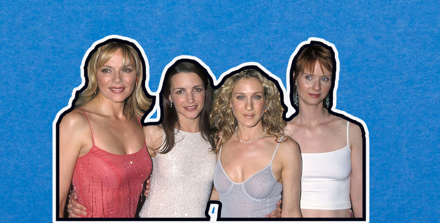 Collage of Samantha, Charlotte, Carrie, and Miranda from Sex and the City