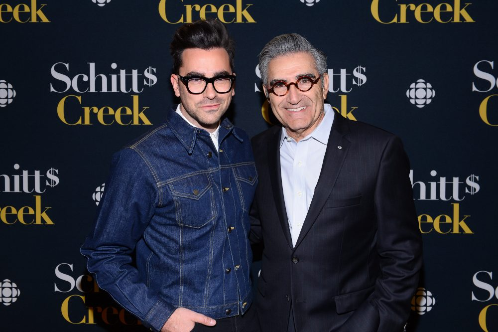 "Dan Levy with his father and ""Schitt's Creek"" co-creator, Eugene Levy."
