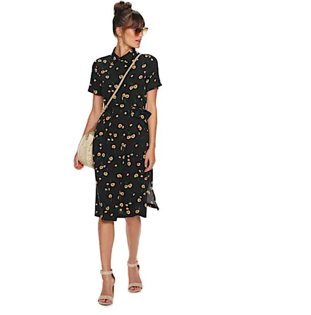 PopSugar Kohls Floral dress
