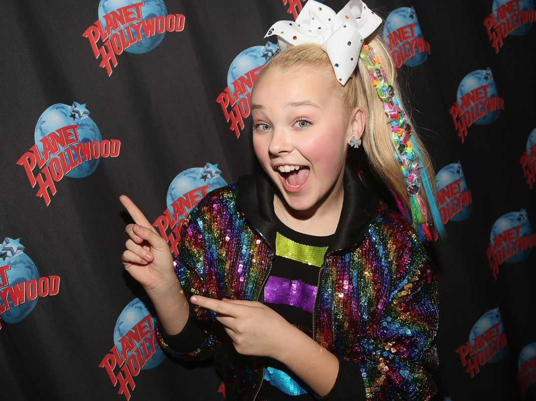Jojo Siwa on the Planet Hollywood red carpet