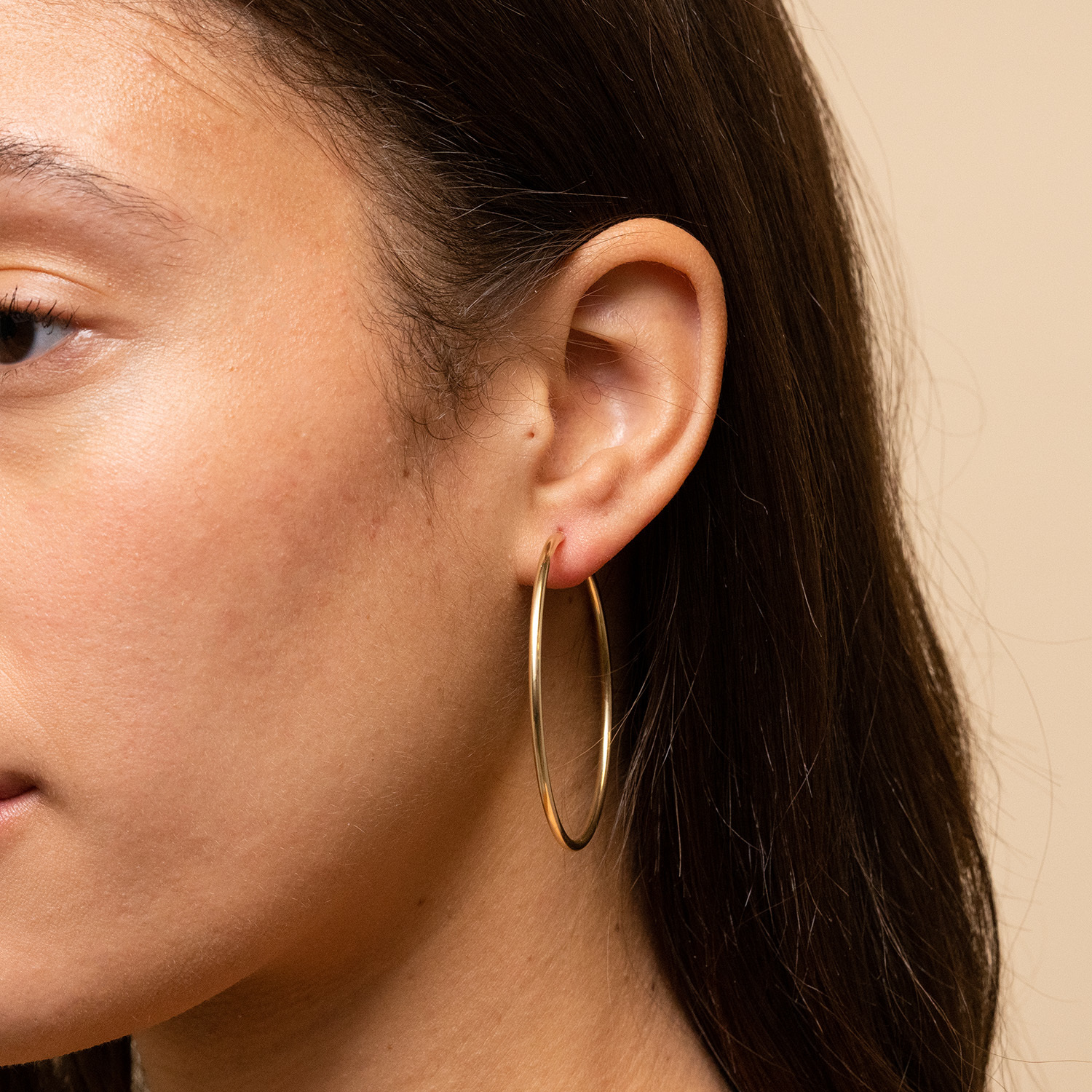 Mejuri hoop earrings
