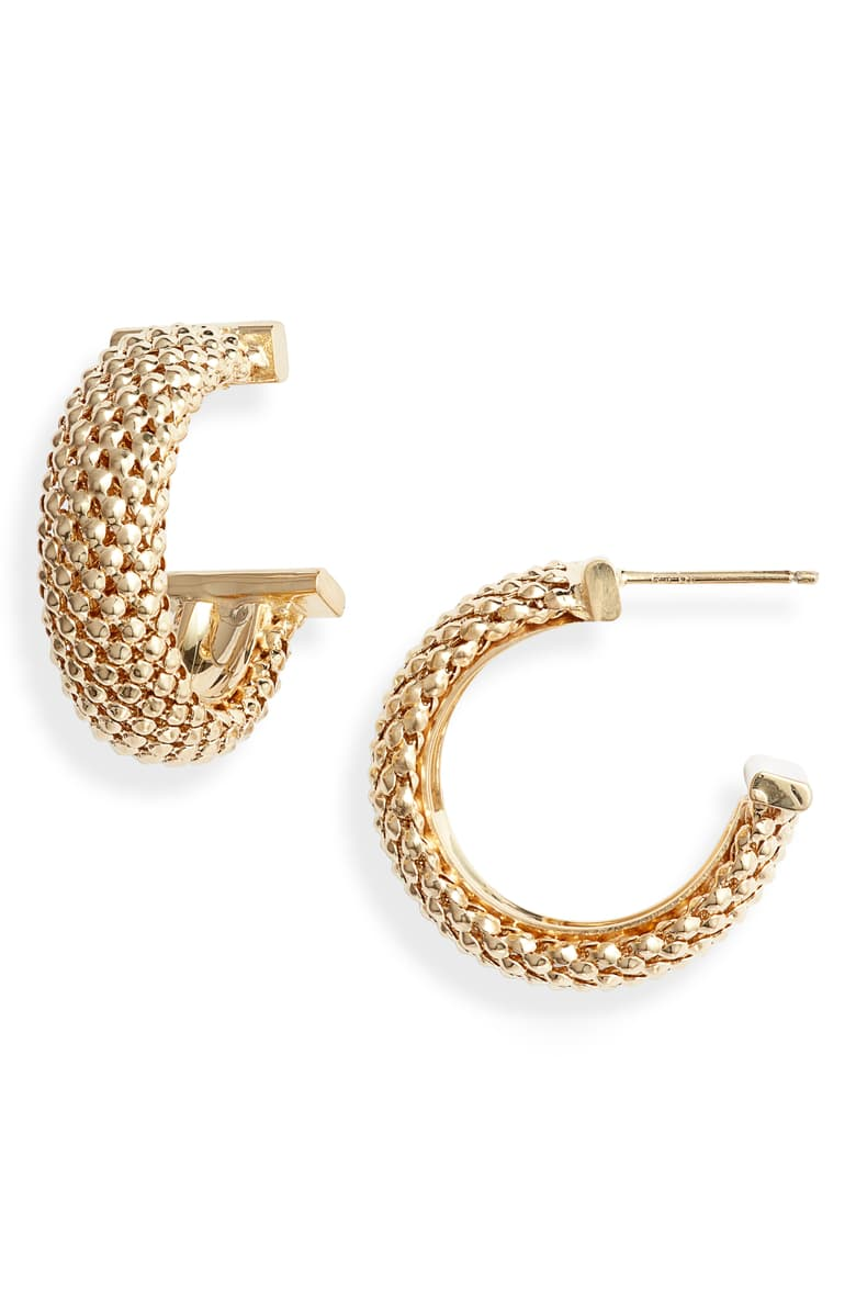 Jennifer Zeuner hoop earrings