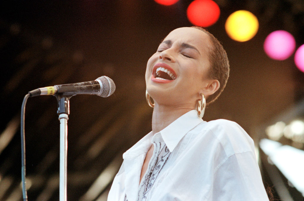Sade at Live Aid in 1985