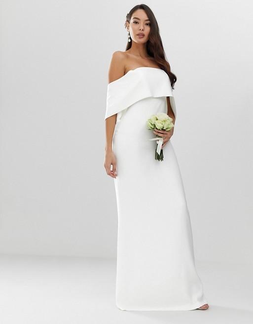 Off-the-shoulder wedding dress- ASOS