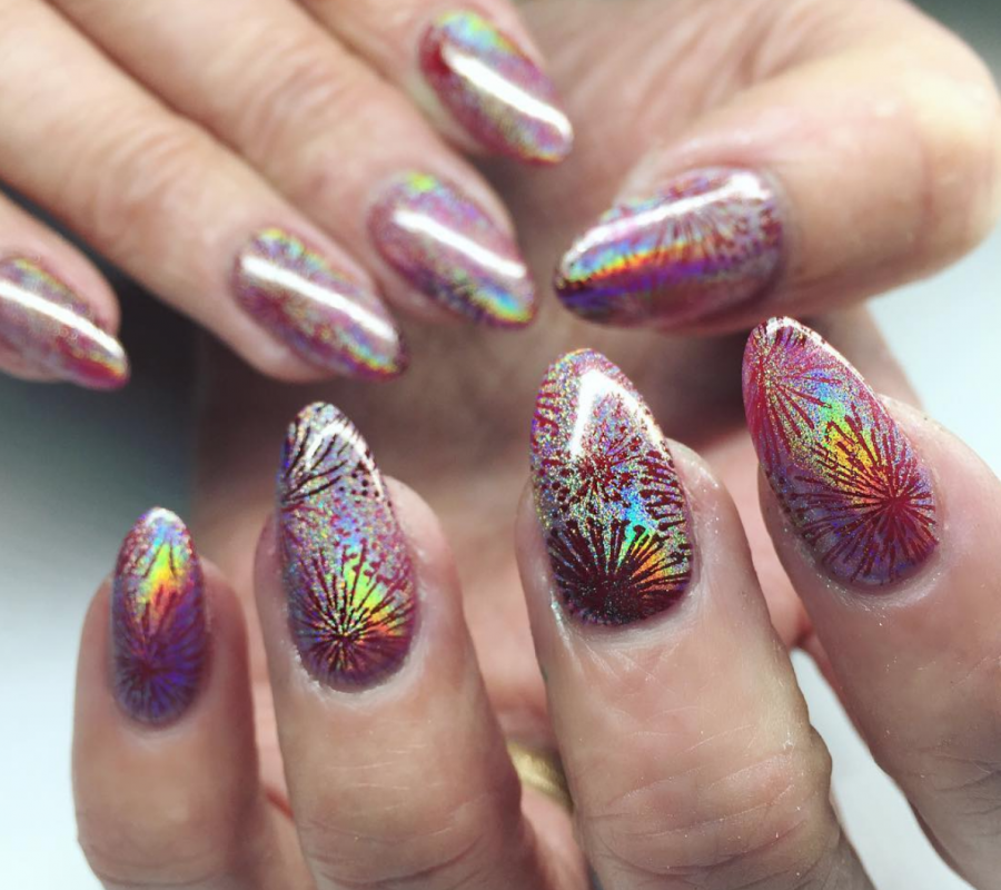 Firework nails for Fourth of July