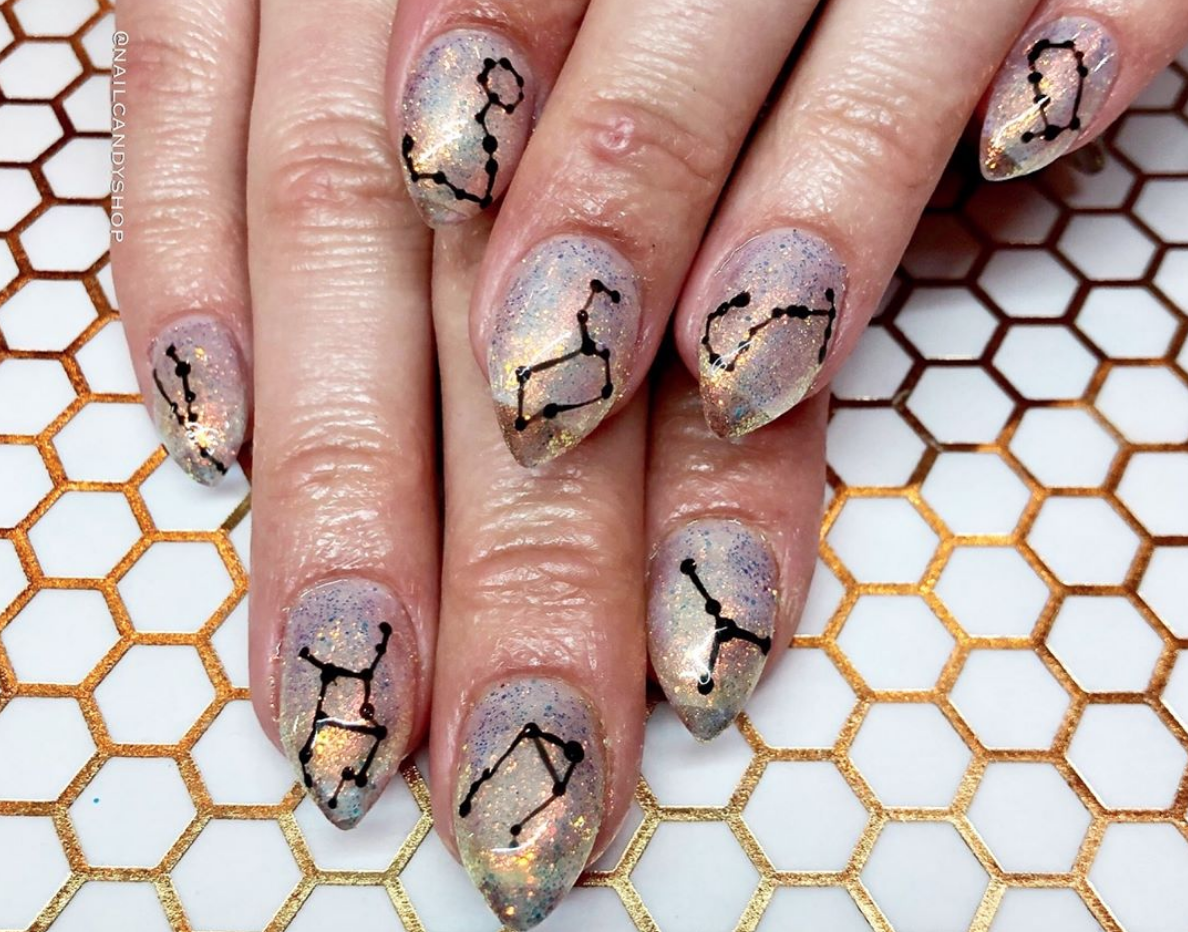 Constellation nail art