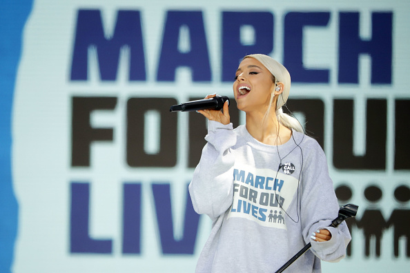 Ariana Grande performing at March for Our Lives