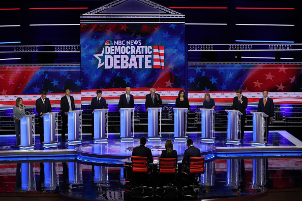 Stage at 2019 Democratic debate