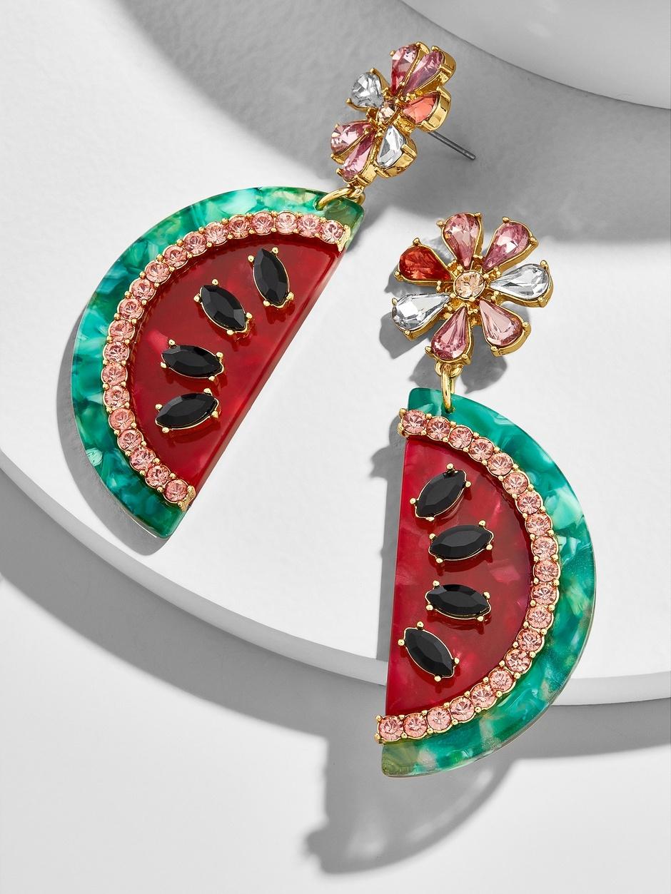 BaubleBar watermelon earrings