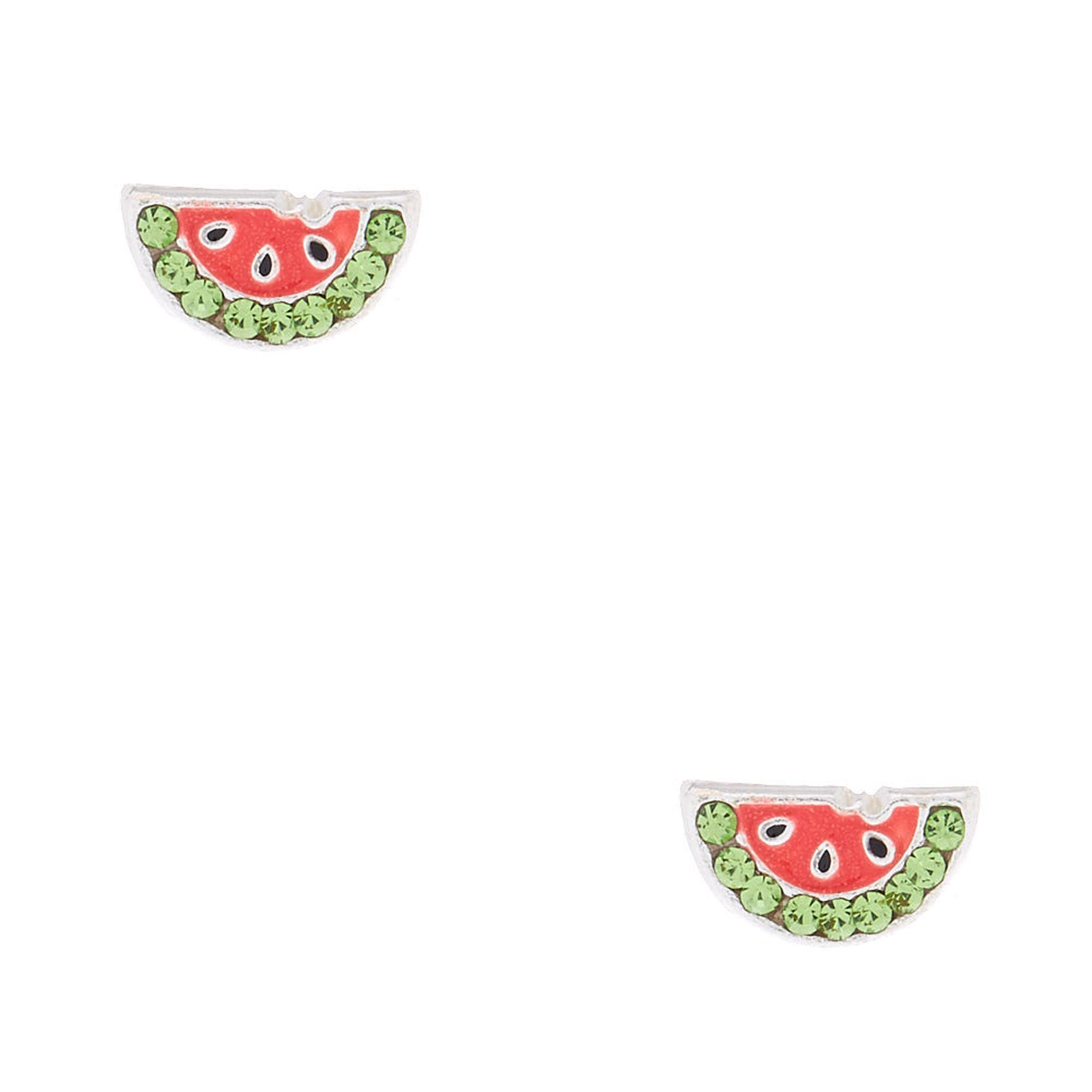 Claire's watermelon earrings