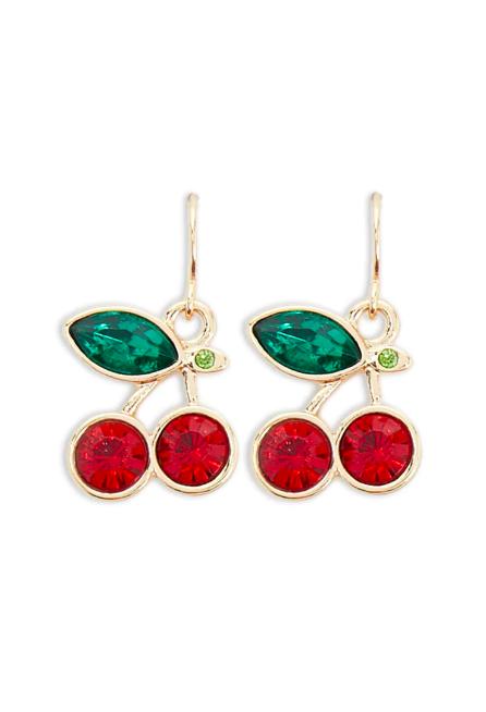 Forever 21 cherry earrings