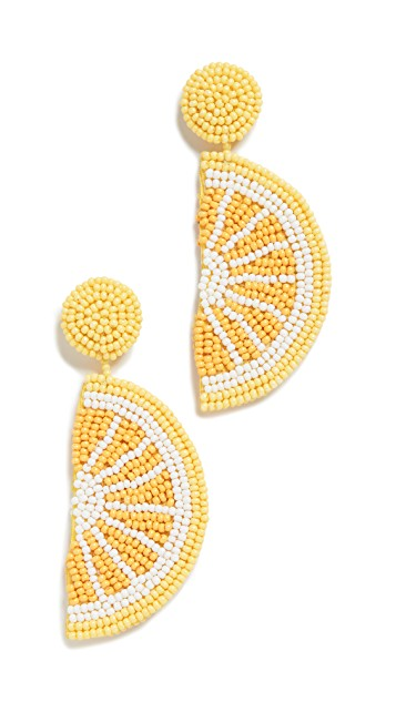 Kenneth Jay Lane lemon earrings
