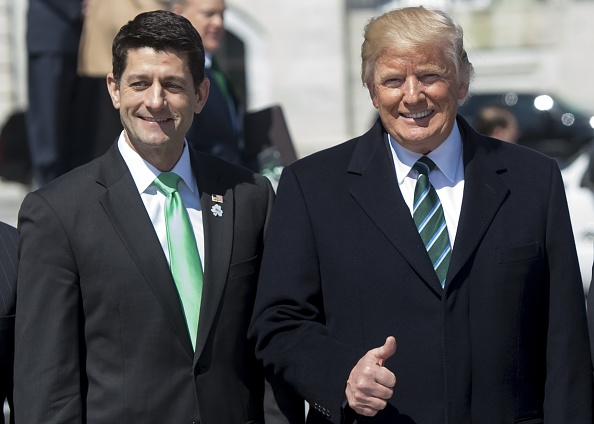 President Donald Trump and former Speaker of the House Paul Ryan